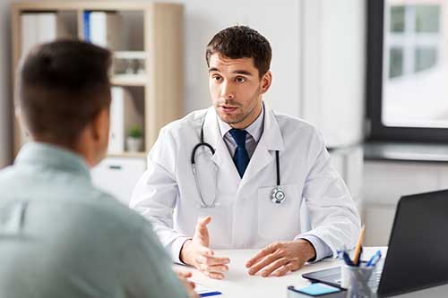 an image of a man explaining medication assisted treatment