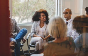 group therapy is facilitated by a trained psychologist, it can help a person to feel free to express themselves