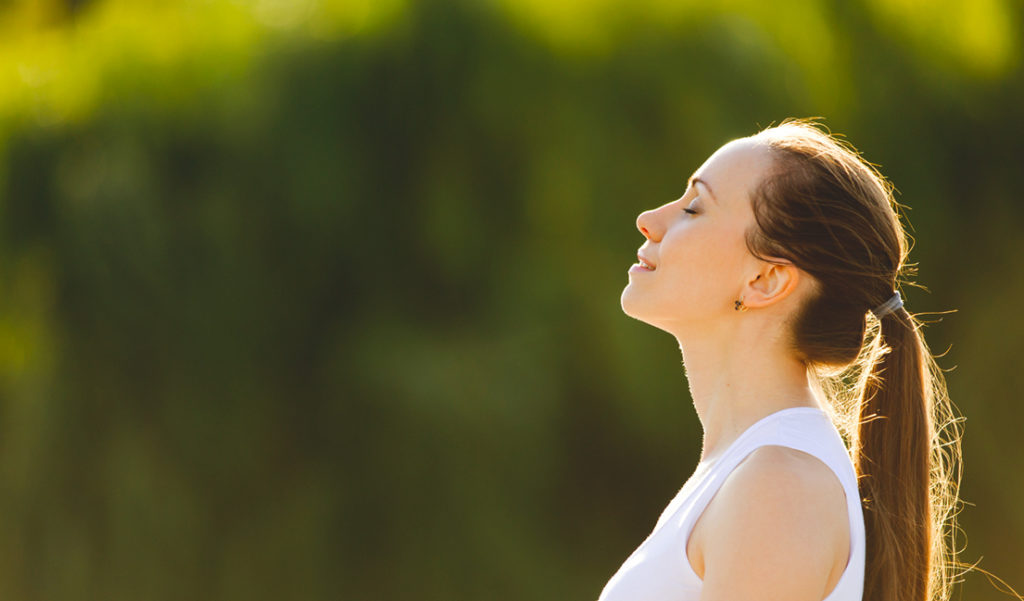 Managing stress means getting your central nervous system to relax and create a positive frame of mind